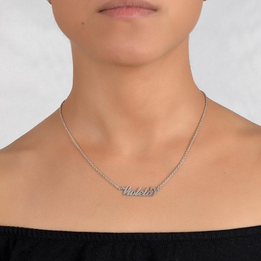 Collar de plata con tu nombre