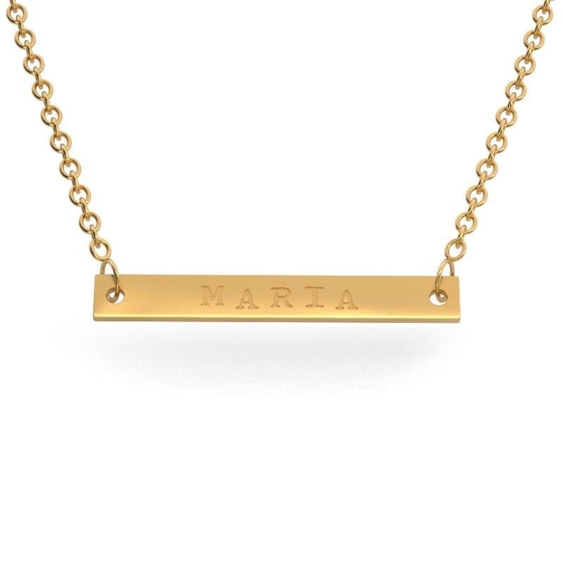 Collar barrita de oro