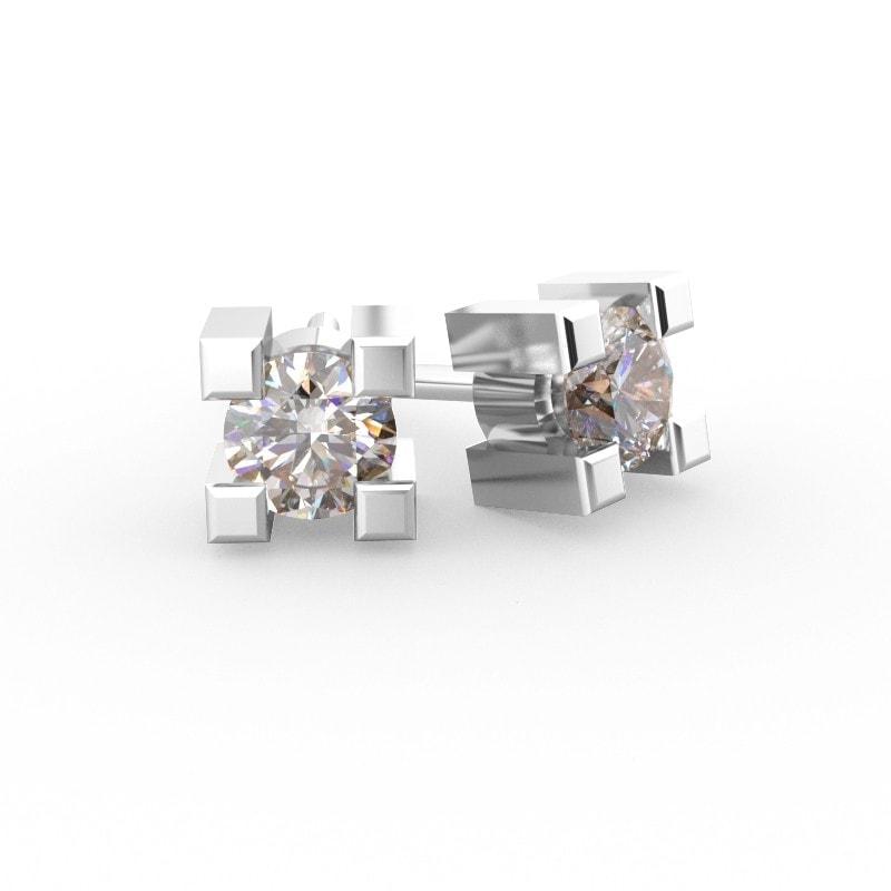 Pendientes solitario con diamantes