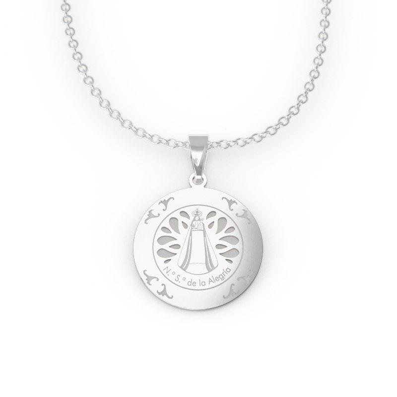 Medalla calada de plata